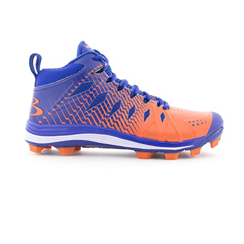 Boombah Mens Squadron Molded Mid Cleats - 15 Color Options - Multiple Sizes Royal/Orange EuoCehmo