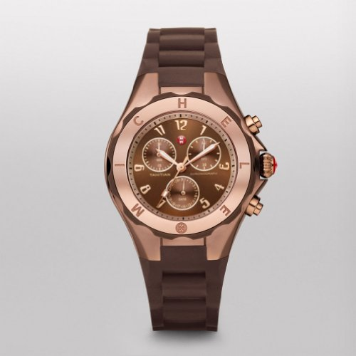 MICHELE Tahitian Jelly Bean Brown Rose Gold Tone, Brown Dial - Michele Tahitian Jelly Bean