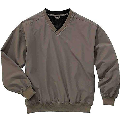 (Rivers' End Mens Lined Microfiber Windshirt Outerwear Tan)