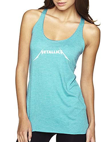 (New Way 925 - Women's Tank-Top Metallica Metal Rock Band Logo XS Tahiti Blue)