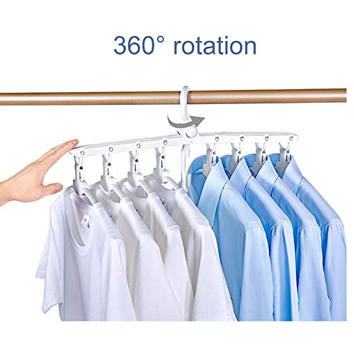 8-in-1 Hangers,Foldable Multi-Function Hanger Hanging 8 Pieces of Clothes to Save Space and Drying Clothes by DFS (Image #3)
