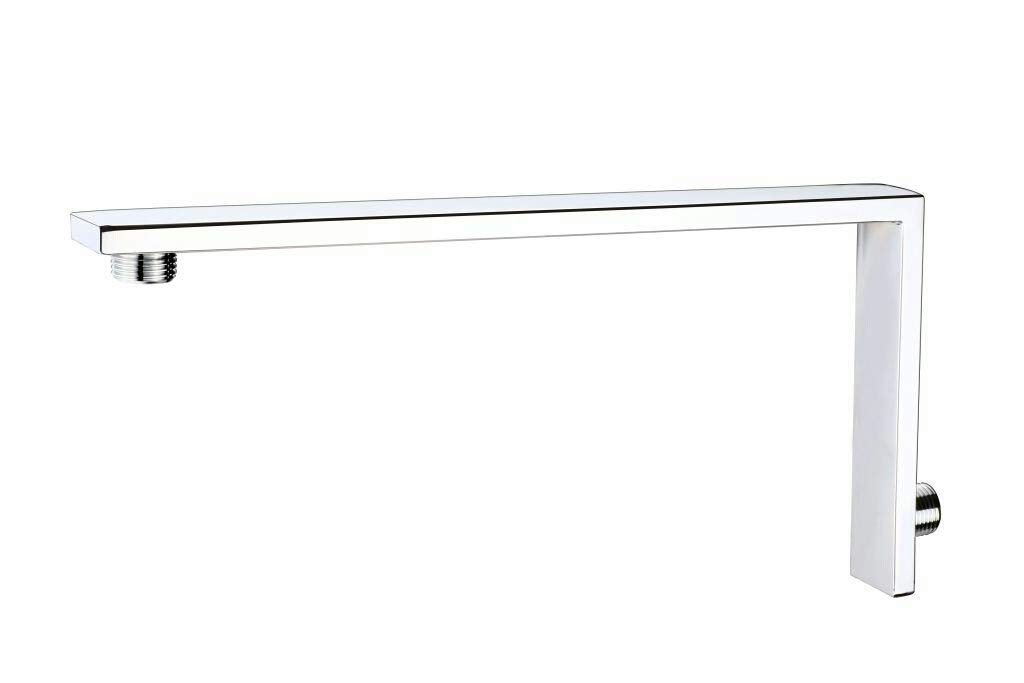 Maxstone Stainless Steel Rectangular Shower Arm with Chrome Finish (Silver, 6 x 12 Inch)