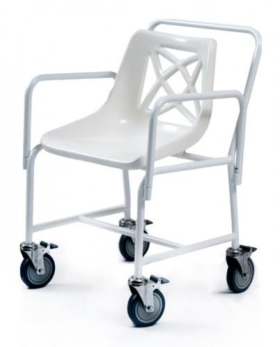 Teléfono móvil de cuarto de baño maleta con asa y ruedas los brazos silla de ducha asiento con adaptador para removible para: Amazon.es: Salud y cuidado ...