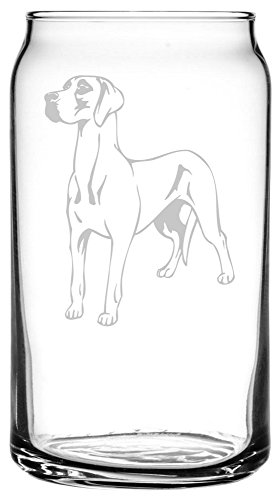 Great Dane Etched Glass16 Ounces