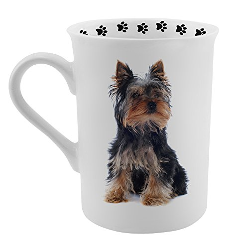 Dimension 9 Yorkshire Terrier Coffee Mug, White (Stocking Yorkshire Terrier)