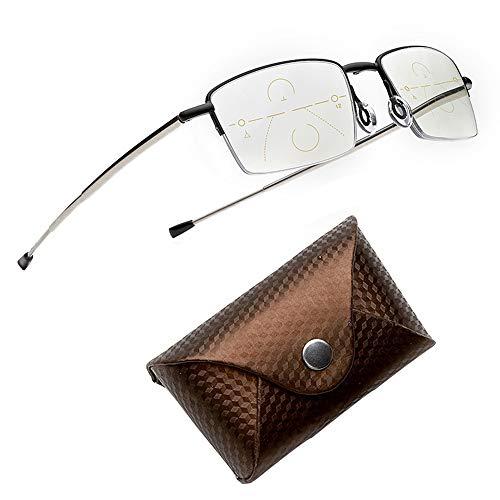 ElectroOptix Progressive Multi-Focus Intelligent Reading Glasses, Anti-Radiation/Anti-UV/Anti-Blue/Anti-Fatigue HD Resin Reading Glasses, Ultra-Thin Mini Portable Folding Reading Glasses ()