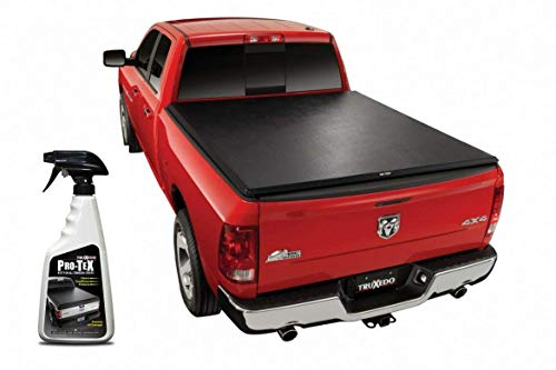 TruXedo 246901 TruXport Soft Roll-Up Dual Latch Tonneau Cover Fits 2009-2018 Dodge Ram 1500 2500 3500 6'4