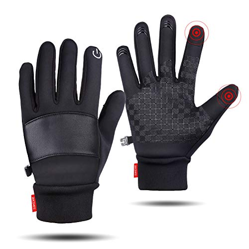 SkyGenius Winter Gloves, Bike Cycling Riding Gloves Motorcycles, Windproof Slip-Proof Gloves Thin Gloves for Outdoor Activities (Middle)