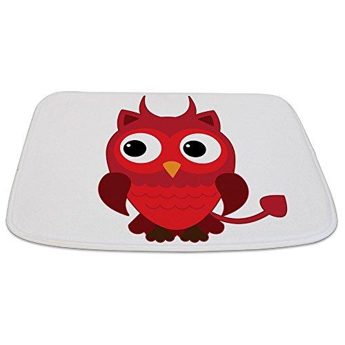 Bathmat Small Little Spooky Owl Devil -