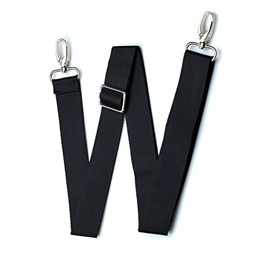 (Hibate Replacement Shoulder Straps for Luggage Bags Adjustable - Black)