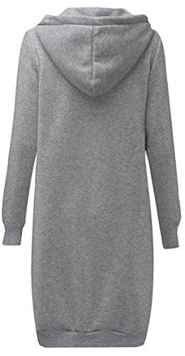 Sport Hauts Shirt Sweatshirt Sweat Veste Blouse Gris Tops Femme Jumper Mileeo Pullover Casual Hiver Manteau Capuche Hoodie À qOx0Az