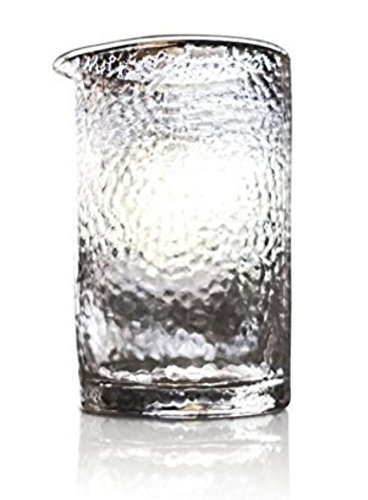 Cocktail Mixing Glass - Premium Series - Handblown - 550ml (Hammered with Seams) by Mixologists