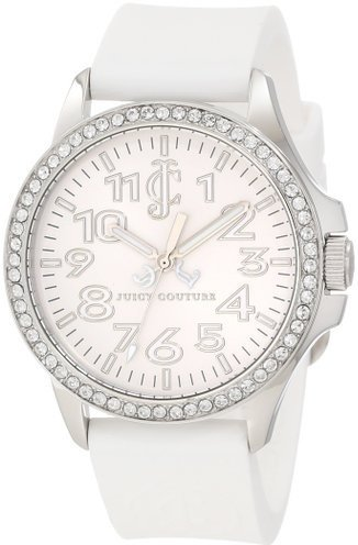 Juicy Couture Women's 1900961 Jetsetter White Silicone Strap Watch - 1