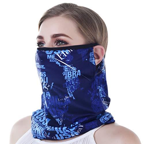 VBIGER Neck Gaiter Gesichtsschutz Gesichtsmaske Maske Motorradmaske Multifunktionstuch Bandana