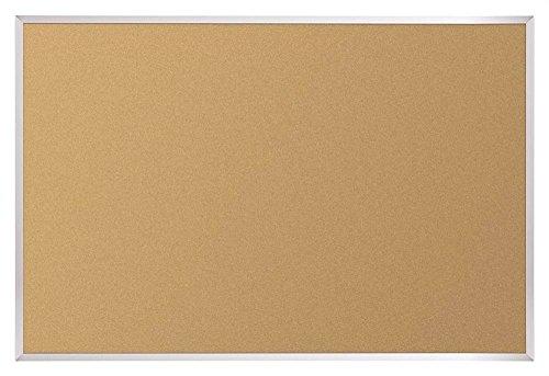 Natural Cork - Plate Tackboard w Aluminum Trim (3 ft. W x 2 ft. H)