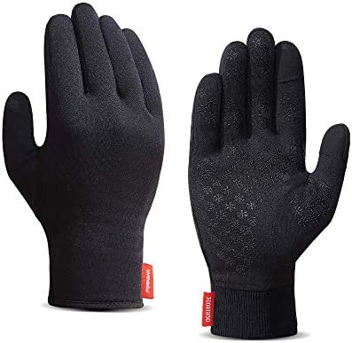 Upgraded Touch Screen Running Gloves Lightweight & Thermal Winter Gloves - Compression Mitten Liners Gloves for Men Women - Anti-Slip Driving Cycling Workout Sports Gloves with Elastic Cuff
