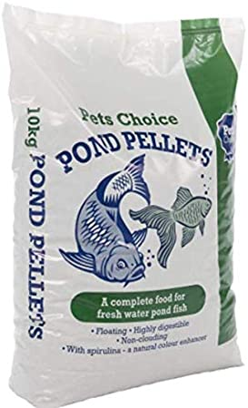 Pet Choice Pond Pellets 10kg Food For All Fish Types Koi Carp Ornamental 2x Amazon Co Uk Pet Supplies