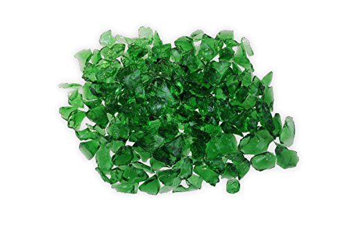 Firegear Broken Large Fire Glass (GL-Green), 1/2-inch to 3/4-inch, Green, 5 pounds -