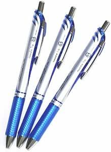 Pentel Energel Deluxe RTX Retractable Liquid Gel Pen, 0.5mm, Fine Line, Needle Tip, Blue Ink-value Set of 3(with Values Japan Original Discription of Goods)
