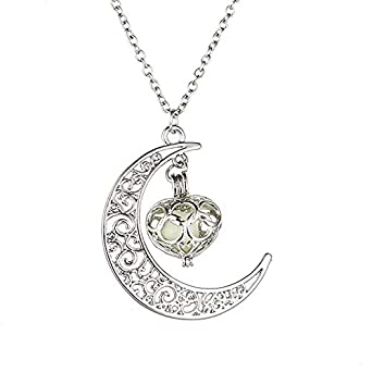 Amazon.com: Collar con colgante de luna de Orcbee, gran ...