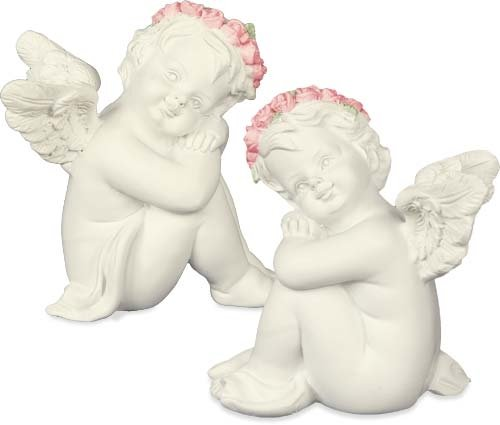 Angelstar 19271 Adorable Cherub Angel Figurine, 2-1/2-Inch, Set of 2