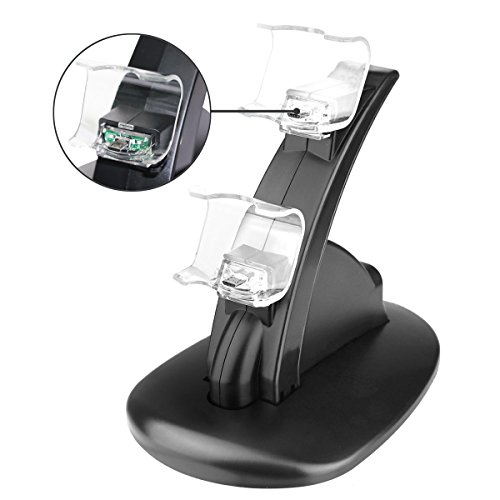 41YvXdJ XYL - ICE-FROG-PS4-Controller-Charger-Dock-LED-Dual-USB-Charging-Stand-Station-Cradle-for-Sony-Playstation-4-Gaming-Control-with-LED-Indicator-by-ICE-FROG