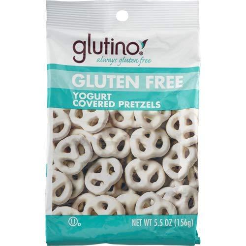 Glutino Gluten Free Yogurt covered pretzels 5.5 oz - Pack of 12