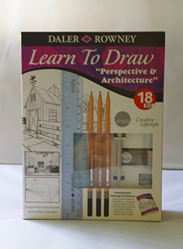 Daler Rowney Lern to Draw Perspective & Architecture 18pcs simply creative lifestyle