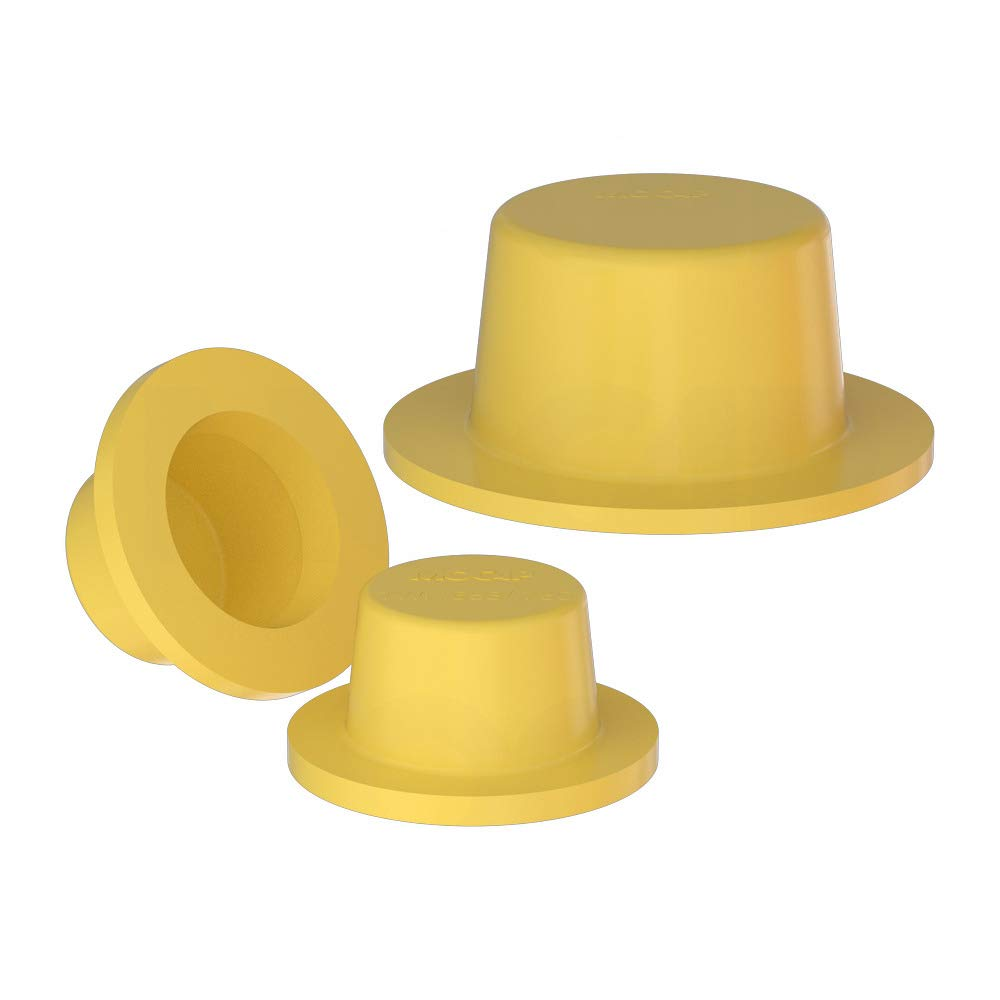 Thick Wide Flange Plug Caps Tapered Wide Flange