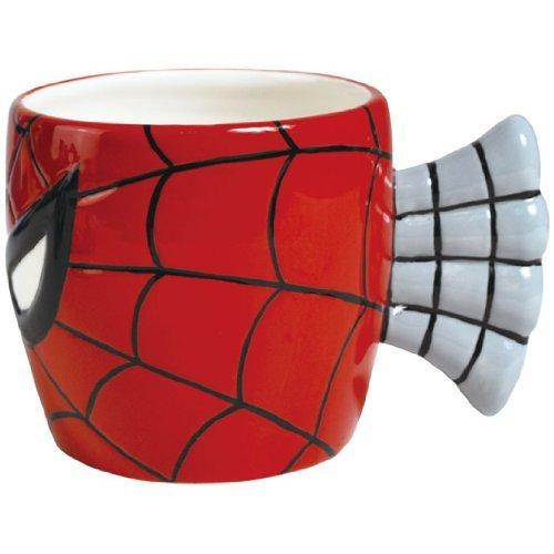 Westland Giftware 3.75-Inch Ceramic Mug, 12-Ounce, Marvel Spider-Man Face