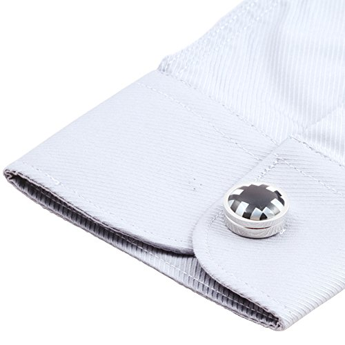 Hj men 39 s jewelry button covers for shirt novelty for Mens dress shirt button covers