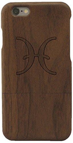 Woodero signe du zodiaque poisson en bois véritable pour apple iPhone 6
