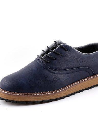 ShangYi Oxford-Schuhe Herrenschuhe Outddor / Büro / Lässig / Party & Festivität Oxfords Kunstleder Schwarz / Blau / Braun Black