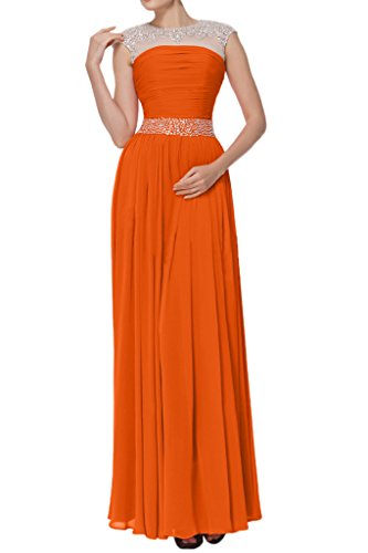 Long Gown Empire Glamorous Orange Guest Avril Chiffon Wedding Tulle Straps Dress Wx1Rxawq8