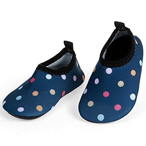 L-RUN Toddler Waterproof Shoes Kids Swim Shoes Baby Beach Shoes Blue 6-12 Month=EU17-18