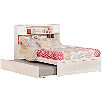 newport flat panel foot board with urban trundle bed full white