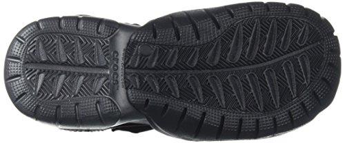 crocs - Sandalias de vestir para hombre negro y gris