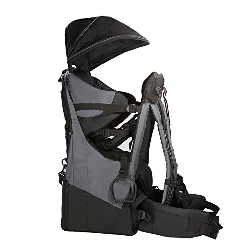 Buy Bargain ClevrPlus Deluxe Baby Backpack Hiking Toddler Child Carrier Lightweight with Stand & Sun Shade Visor, Grey | 1 Year Limited Warranty