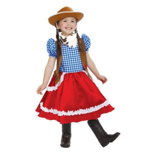(PMG Toddler Girls American Cowgirl Costume With Dress Scarf & Cowboy)
