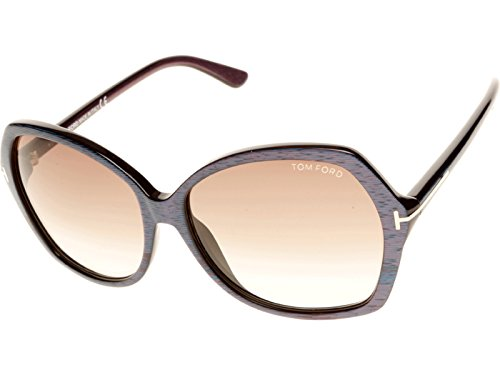 Tom Ford 0328S 83F Blue and Pink Carola Round Sunglasses Lens Category 2 (Sonnenbrille 2.00)