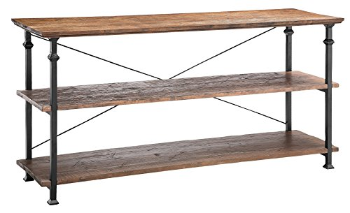 Stein World Furniture Poplar Estates Metal Console Table, Natural Reclaimed Wood