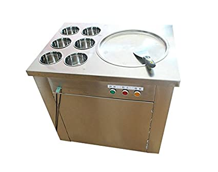 Amazon yoli fry ice pan machine fried ice cream machine ice yoli fry ice pan machine fried ice cream machine ice cream roll making machine for ccuart Image collections