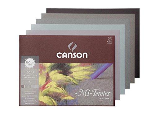 Pad Mi Teintes - Canson Mi-Teintes Grey Tones Pad - 24x32cm (30 sheets)