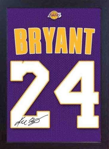 S&E DESING Kobe Bryant LA Lakers NBA - Autógrafo firmado por JERSEY T-SHIRT impreso
