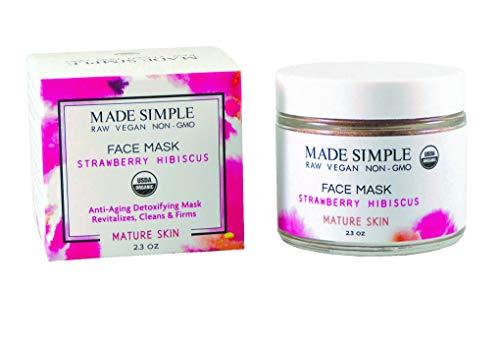 Certified Organic Raw Vegan Cruelty-free Strawberry Hibiscus Face Mask