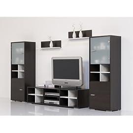 Wohnwand Wenge – Weiß – Top Design und Optik
