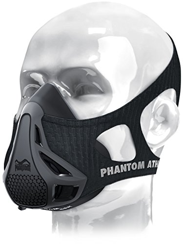 Phantom Training Mask - Mask Carrying Case Set High Altitude Elevation Simulation - for Gym Cardio Fitness Running Endurance and HIIT Training (Black, Small)