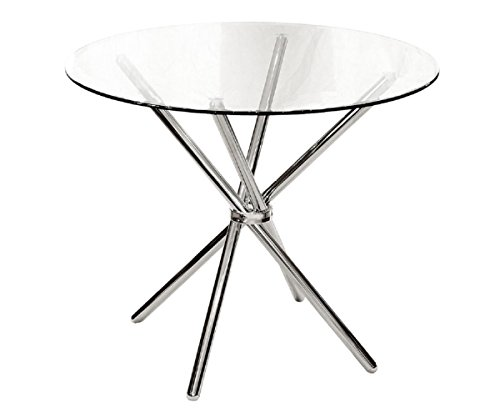 ce25e7c694b8 ASPECT VERONA ROUND DINING TABLE-Clear Tempered Glass Chrome Legs - Buy  Online in Oman.