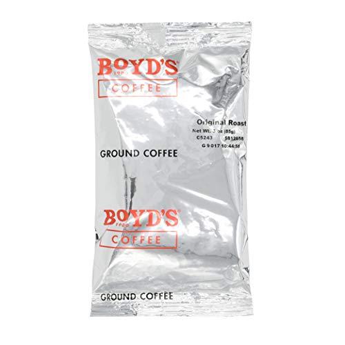 BOYD'S ORIGINAL ROAST COFFEE - GROUND MEDIUM ROAST - 3-OZ PORTION PACKS (PACK OF 40)