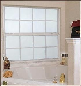 Amazon Com Frosted Glass White Privacy Decorative Window